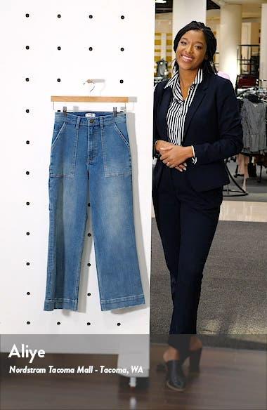 Utility Crop Wide Leg Jeans, sales video thumbnail