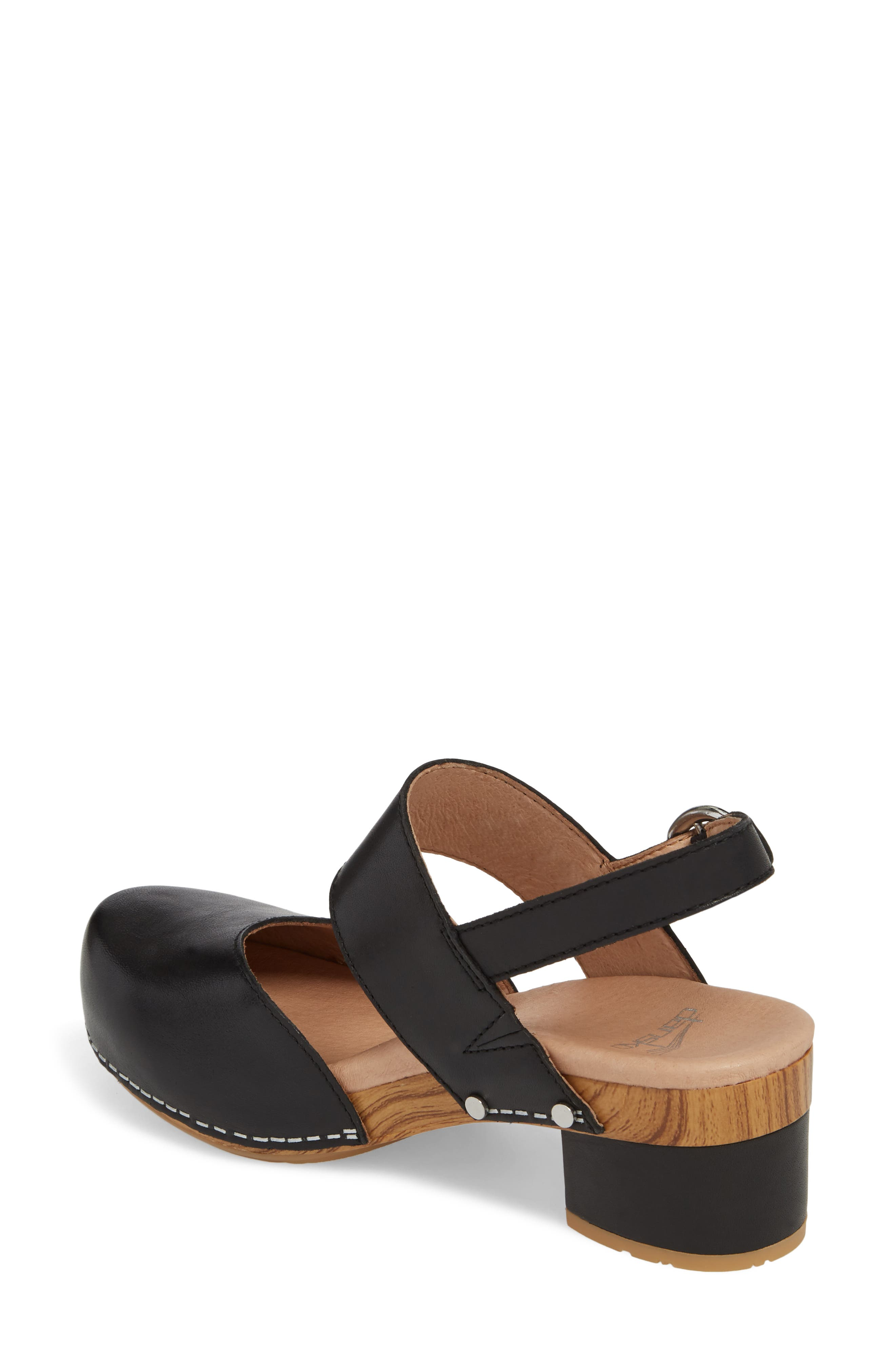 ,                             Malin Sandal,                             Alternate thumbnail 2, color,                             BLACK LEATHER