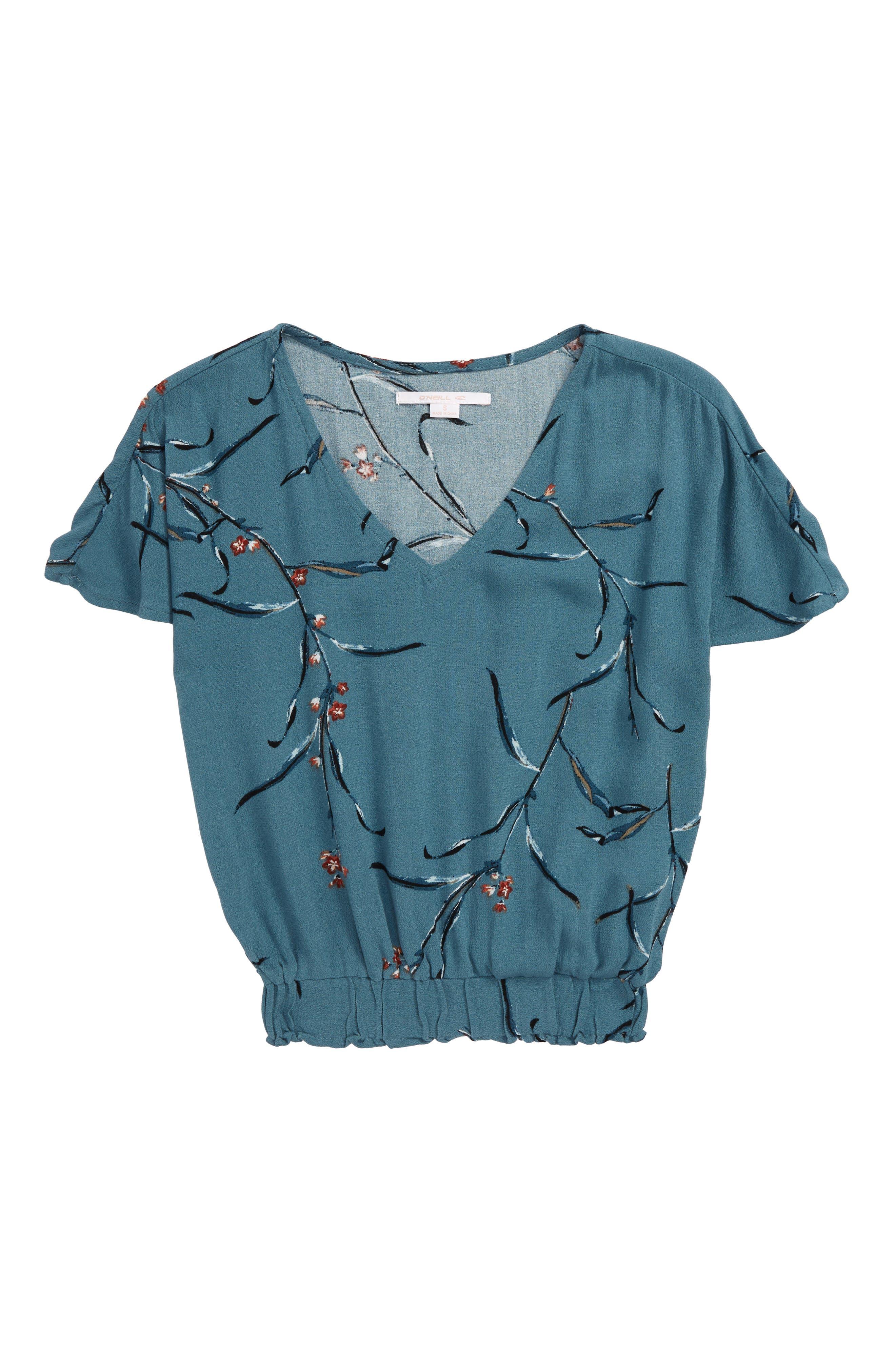 Girls ONeill Lucinda Woven Top Size S (78)  Blue
