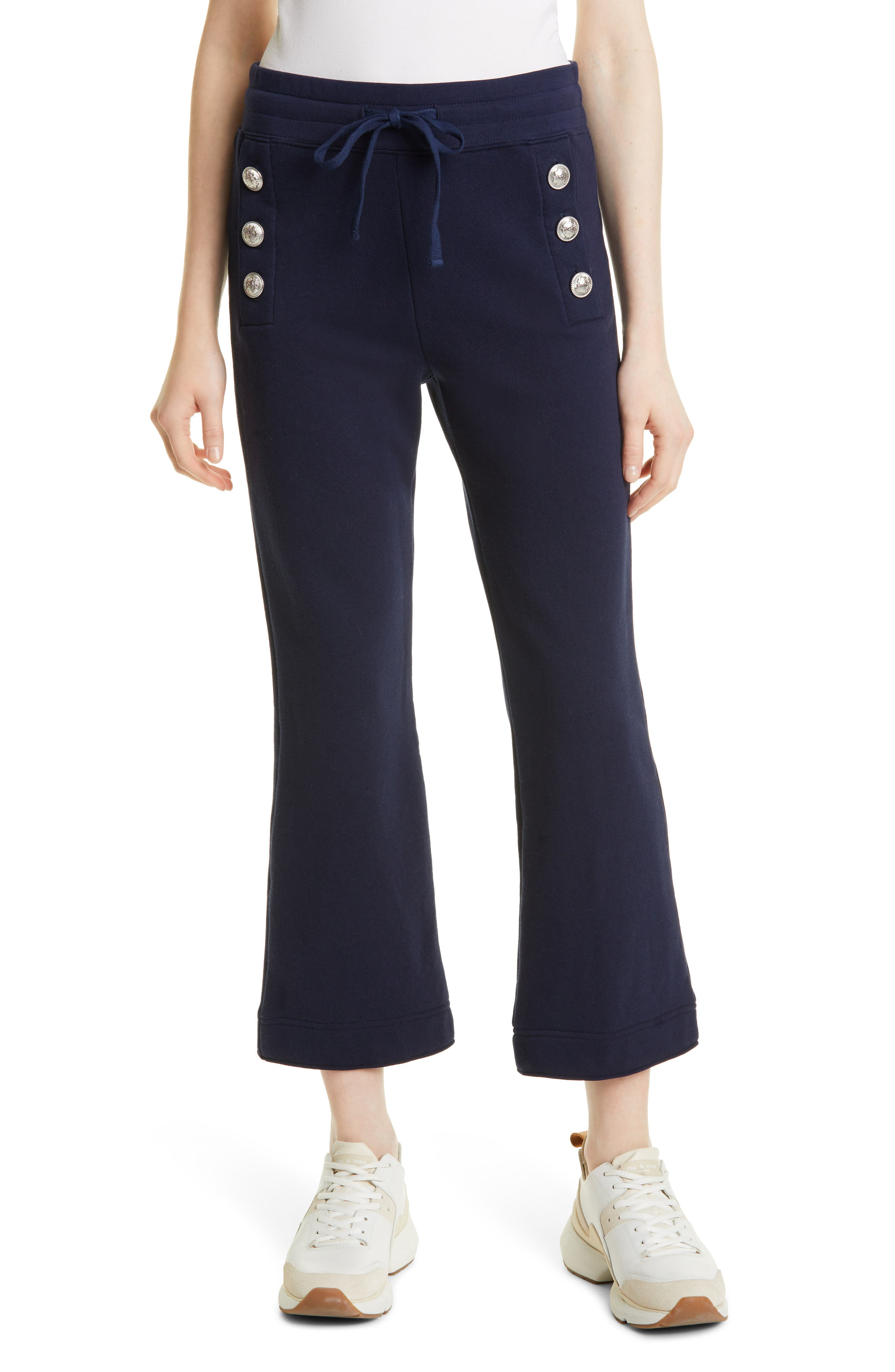 Sian Crop Flare Cotton Joggers