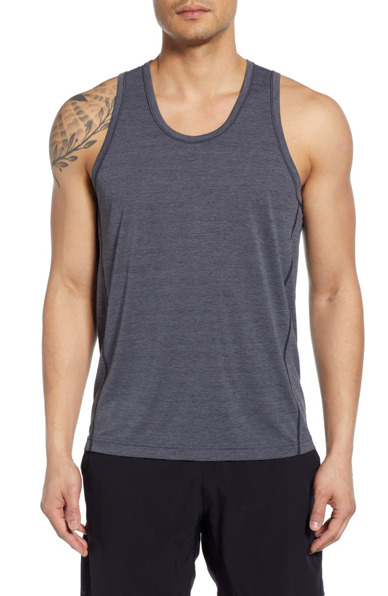 REIGNING CHAMP Training Tank, Main, color, CHARCOAL