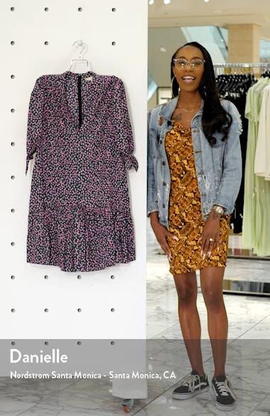 Wild Rose Print Minidress, sales video thumbnail