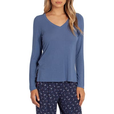 In Bloom By Jonquil Lexie Long Sleeve Pajama Top, Blue