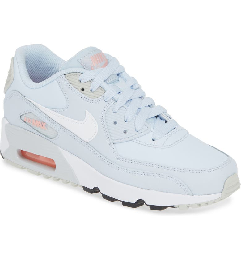 NIKE 'Air Max 90' Sneaker, Main, color, BLUE/ WHITE-PLATINUM-CORAL