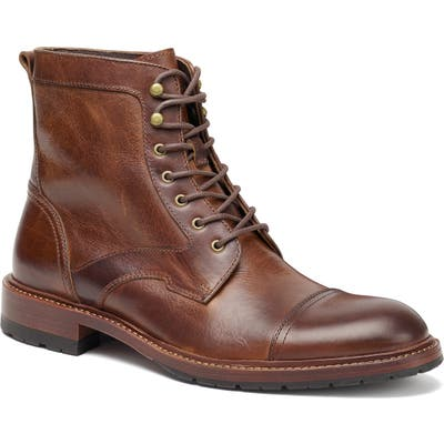 Trask Lawrence Cap Toe Boot- Brown