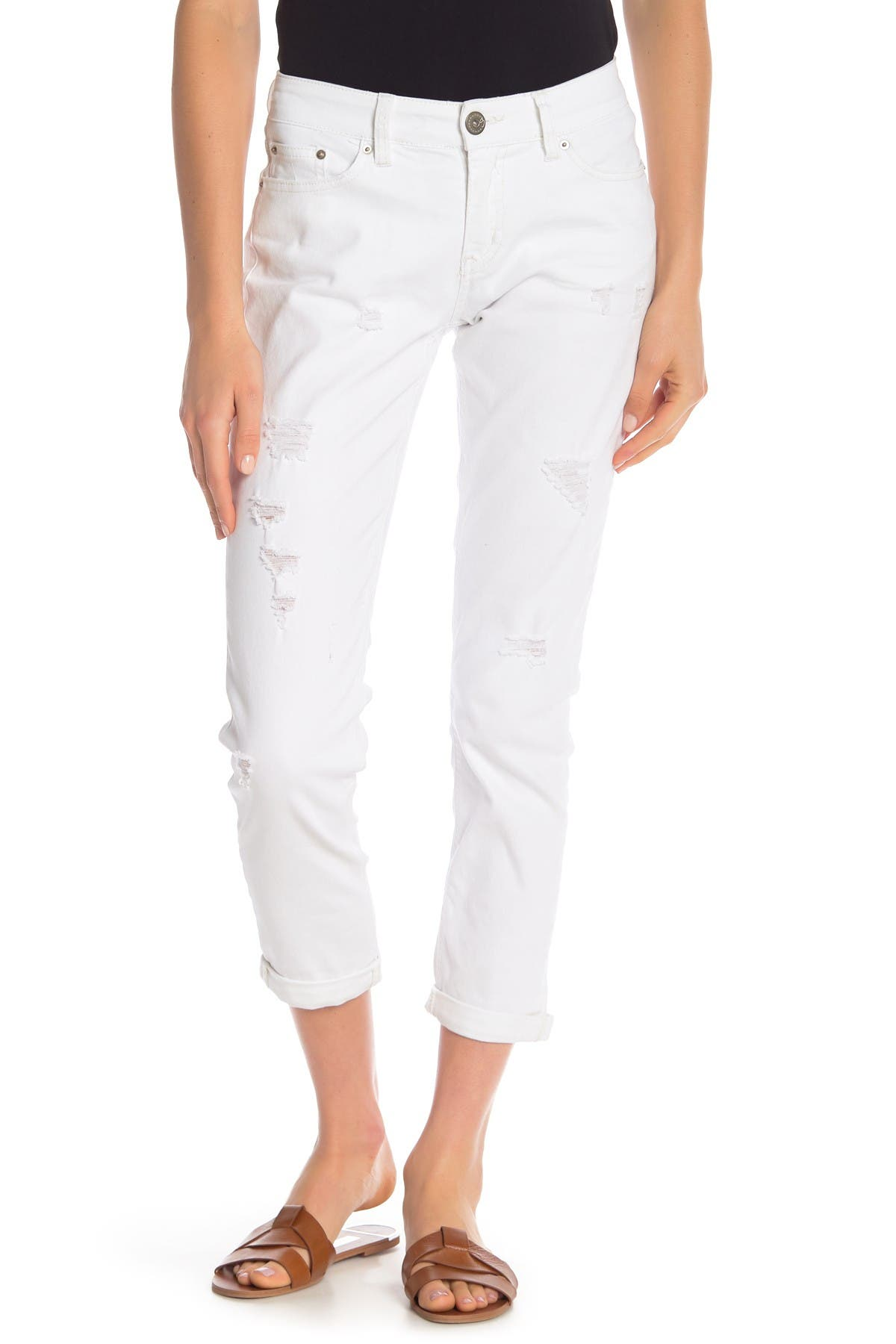 Image of SUPPLIES BY UNION BAY Marni Distressed Skinny Ankle Jeans