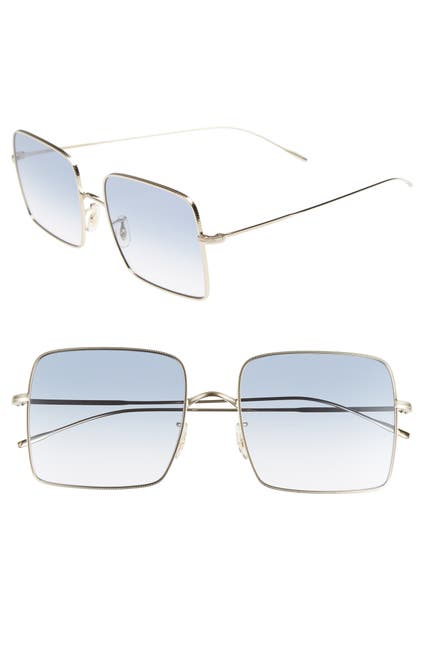 Image of Oliver Peoples Rassine 56mm Square Sunglasses