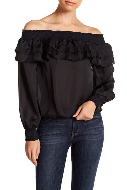 Image of endless rose Off-The-Shoulder Ruffle Blouse