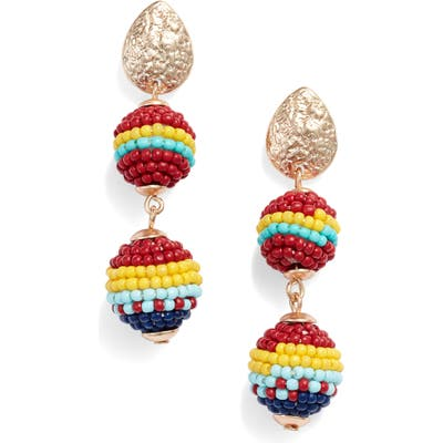 Knotty Beaded Drop Earrings