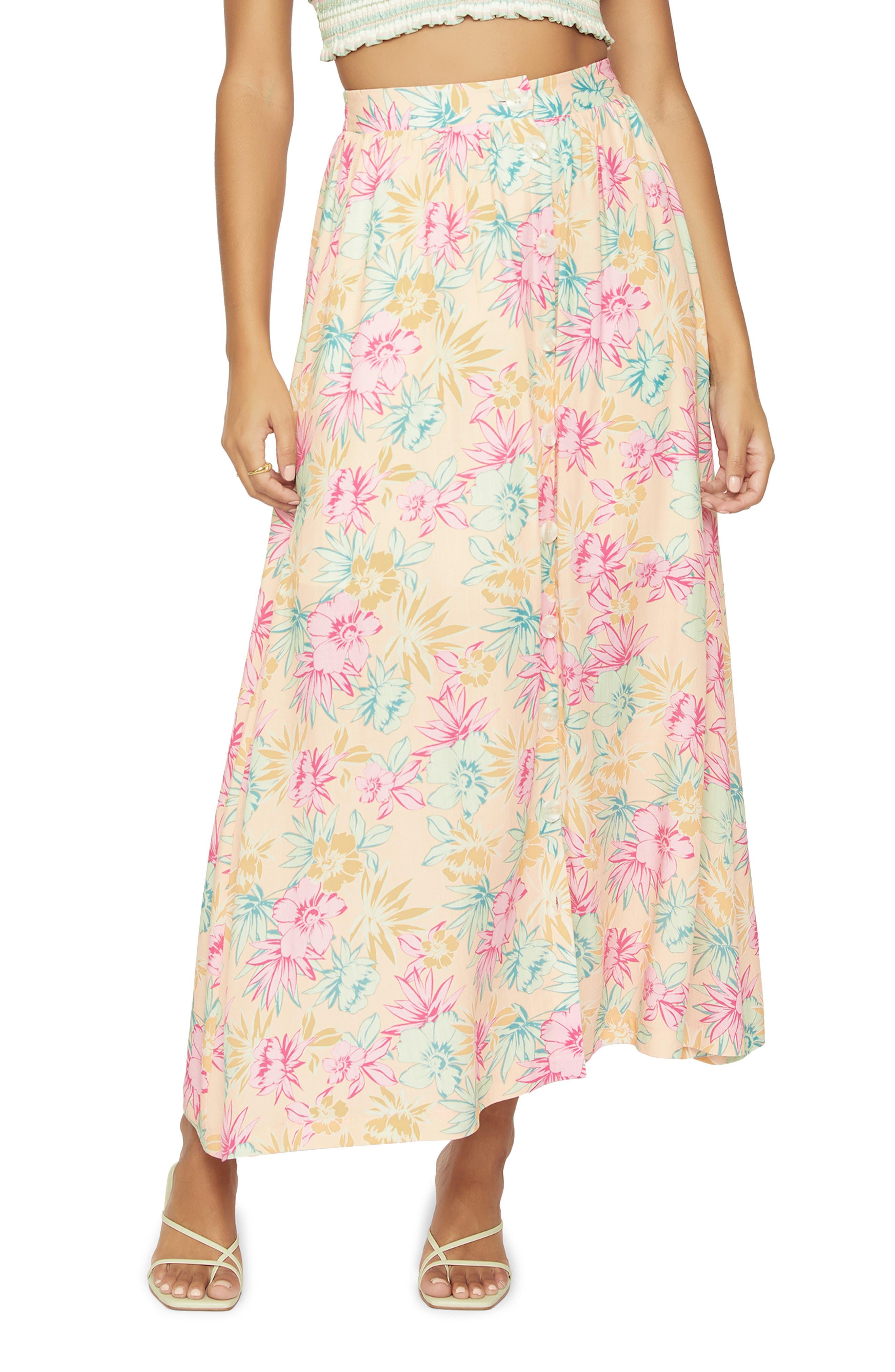 Women's Lost + Wander Sunkist Aloha Maxi Skirt