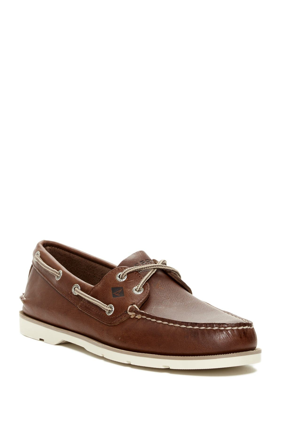 Image of Sperry Leeward Leather Boat Shoe