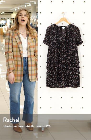 Ditsy Ladder Trim Mini Dress, sales video thumbnail