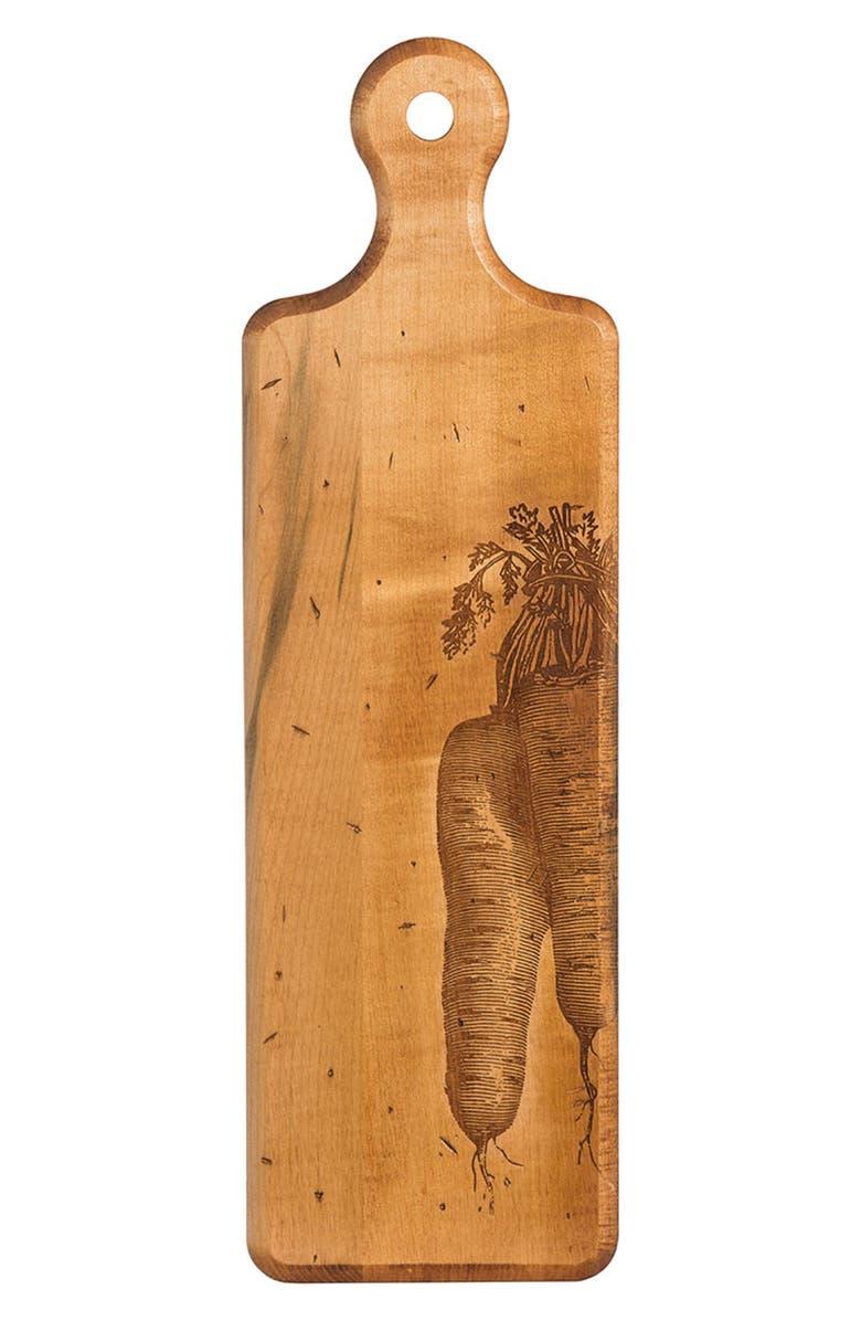 JK ADAMS Maple Artisan Plank Carrot Serving Board, Main, color, 200