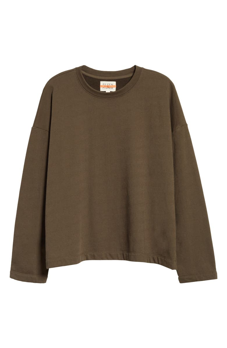 EILEEN FISHER Organic Cotton Terry Boxy Pullover, Main, color, SURPLUS