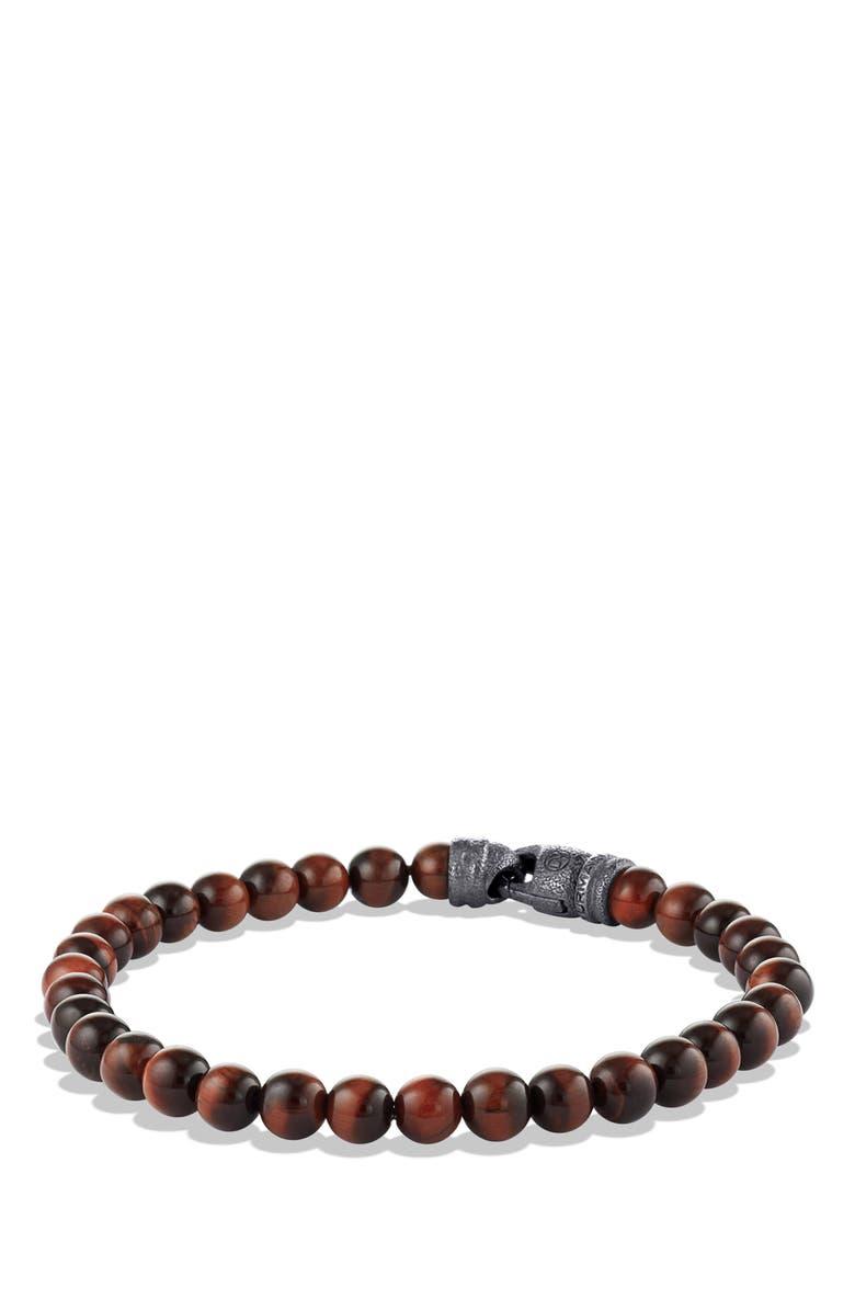DAVID YURMAN Spiritual Beads Tiger's Eye Bracelet, Main, color, TIGER'S EYE