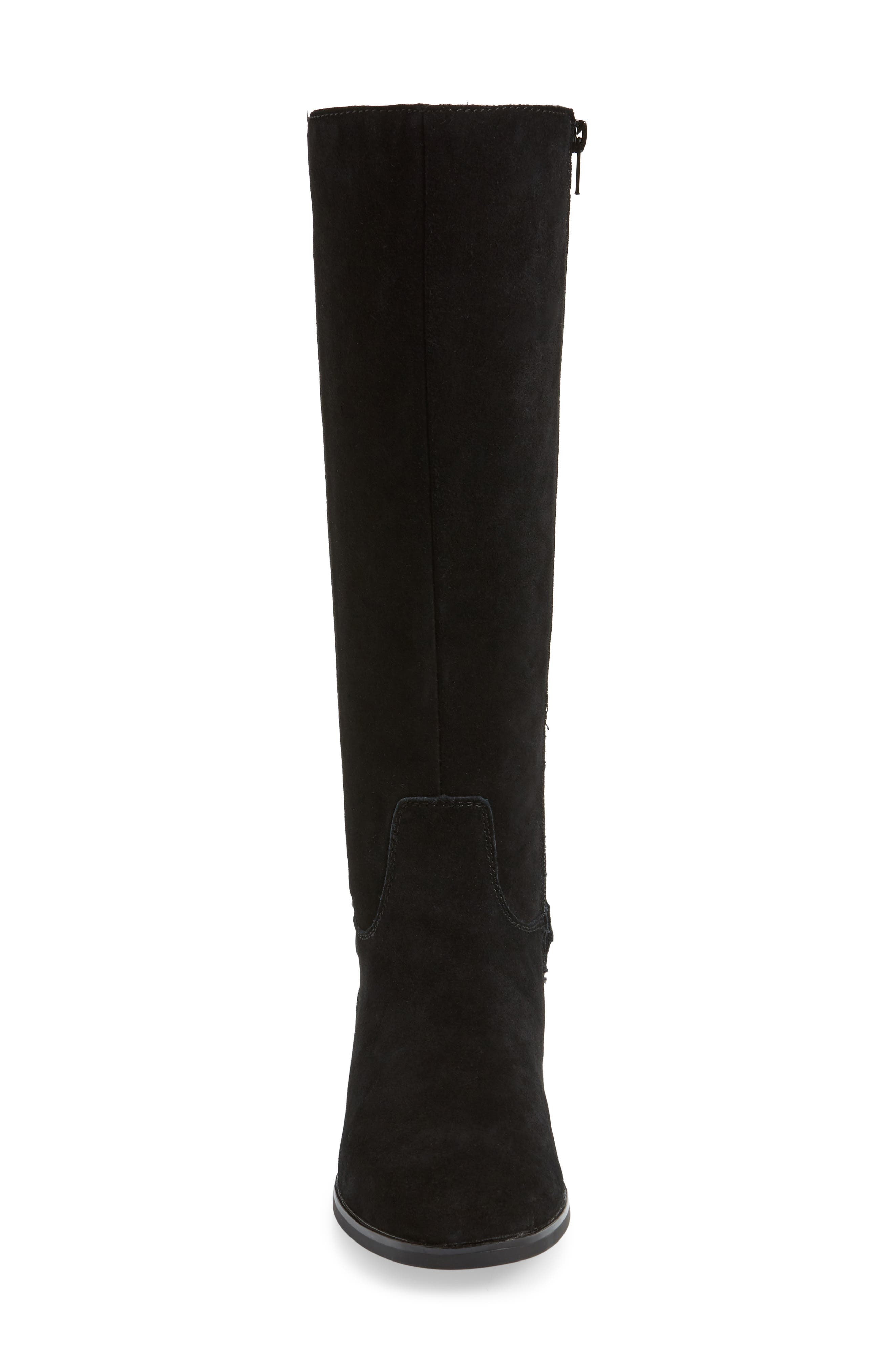 ,                             Cheverly Knee High Boot,                             Alternate thumbnail 4, color,                             BLACK SUEDE