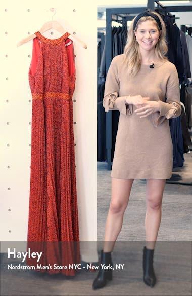 Kelissa Halter Print Maxi Dress, sales video thumbnail