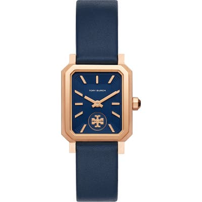 Tory Burch The Robinson Leather Strap Watch, 2m
