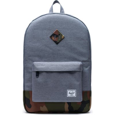 Herschel Supply Co. Heritage Camo Trim Backpack - Grey (Nordstrom Exclusive)