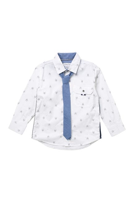 Image of Sovereign Code Printed Shirt & Tie Set