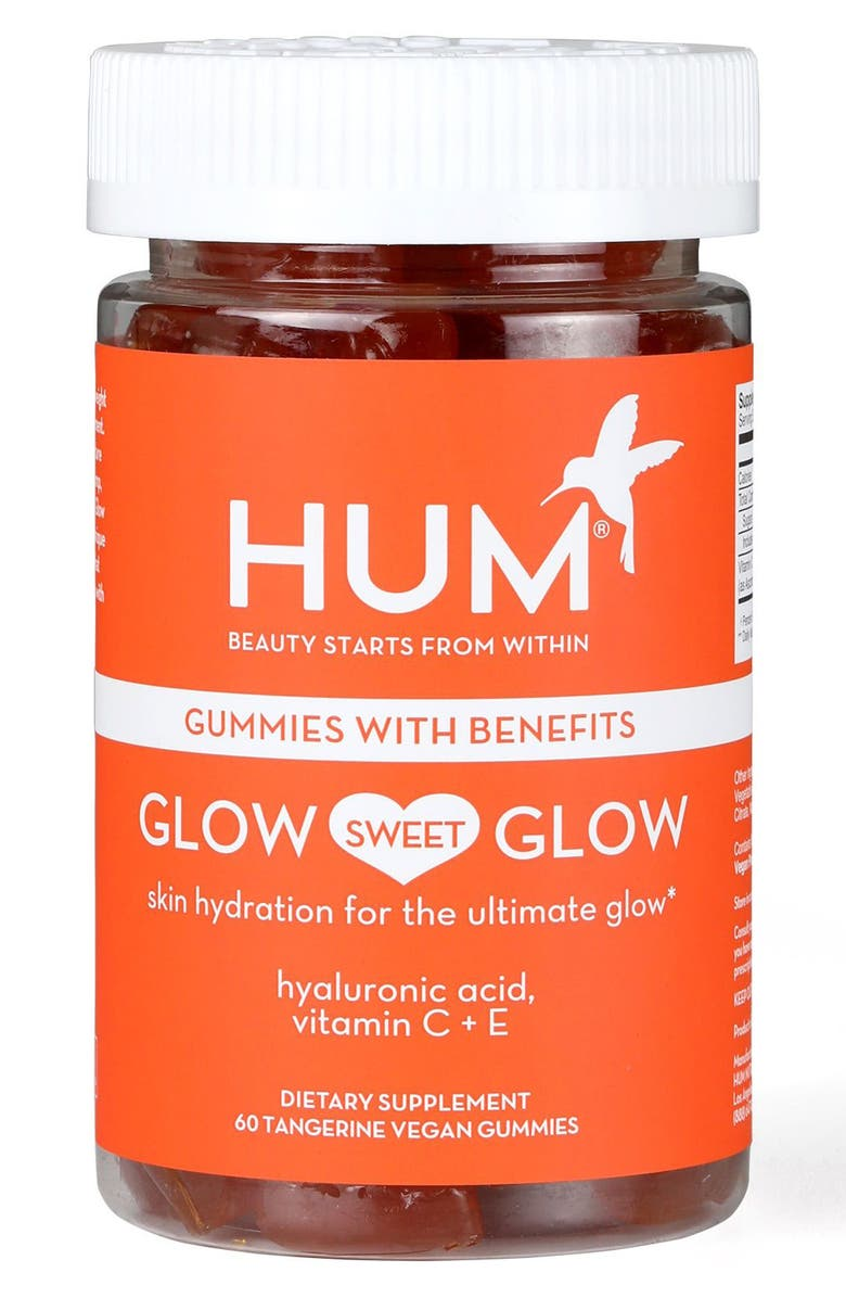 HUM NUTRITION Glow Sweet Glow Vegan Gummies Skin Hydration Dietary Supplement, Main, color, NO COLOR