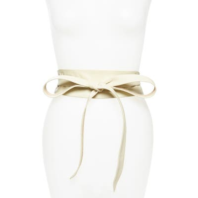 Ada Classic Wrap Belt, Size One Size - Cream