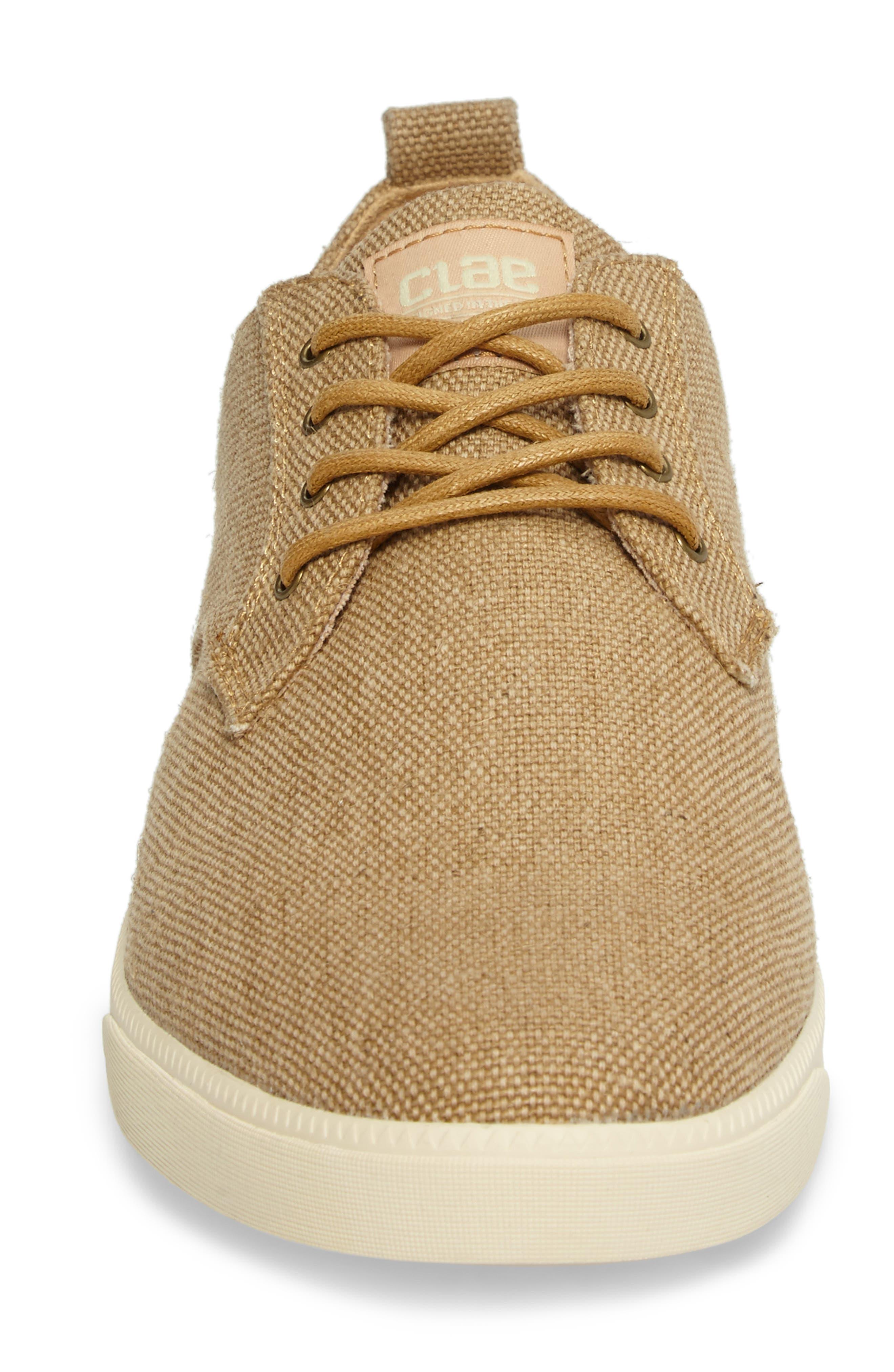 ,                             Ellington Sneaker,                             Alternate thumbnail 4, color,                             TAN HEMP CANVAS