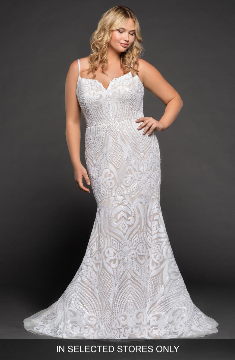 BLUSH BY HAYLEY PAIGE West Mermaid Gown, Main, color, SOLID IVORY