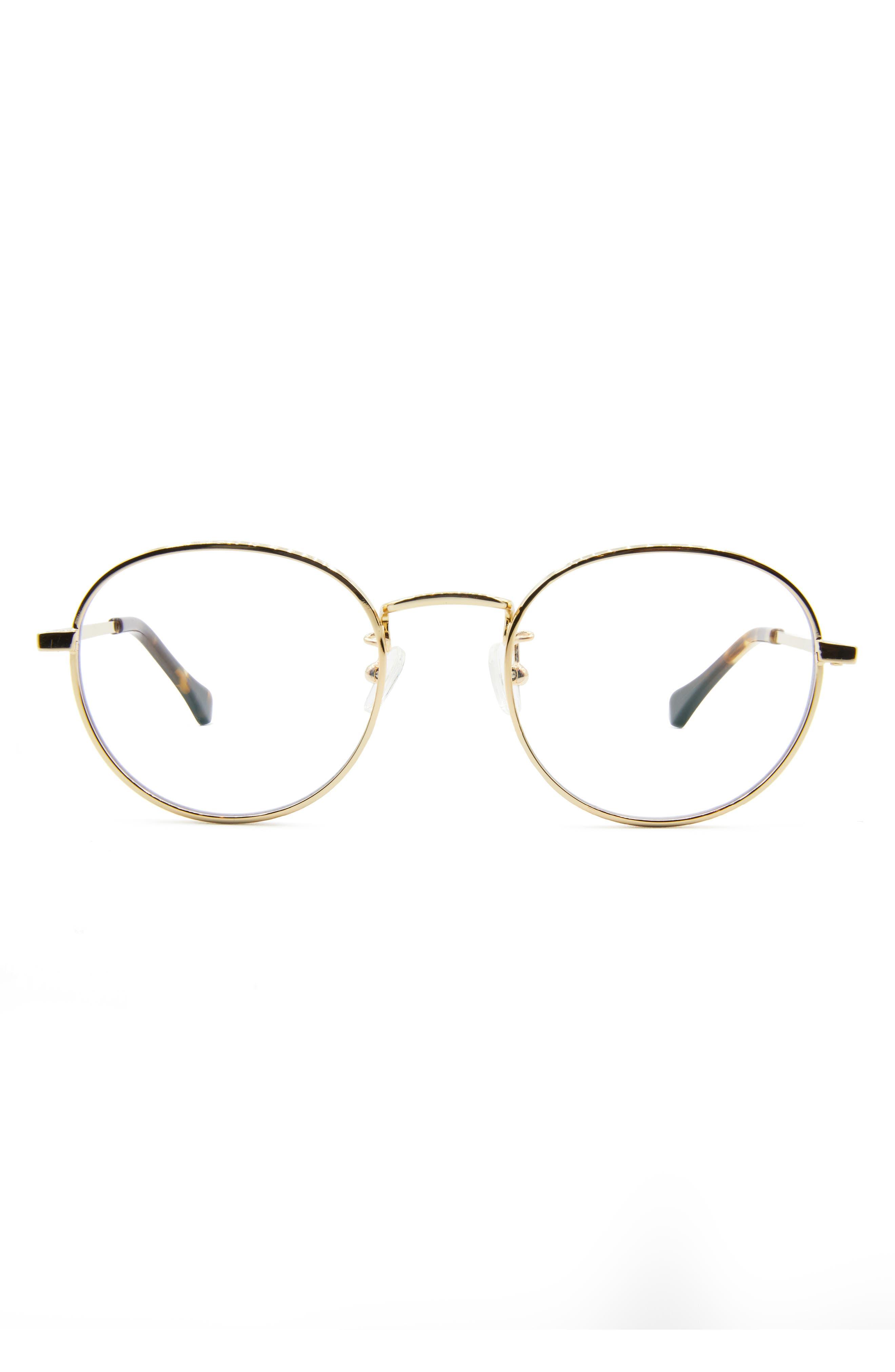 Hamilton 49mm Round Blue Light Blocking Glasses