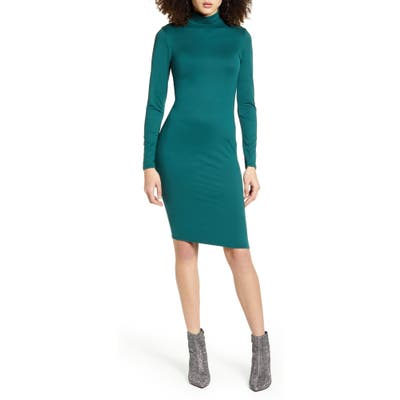 Leith Long Sleeve Body-Con Dress, Green