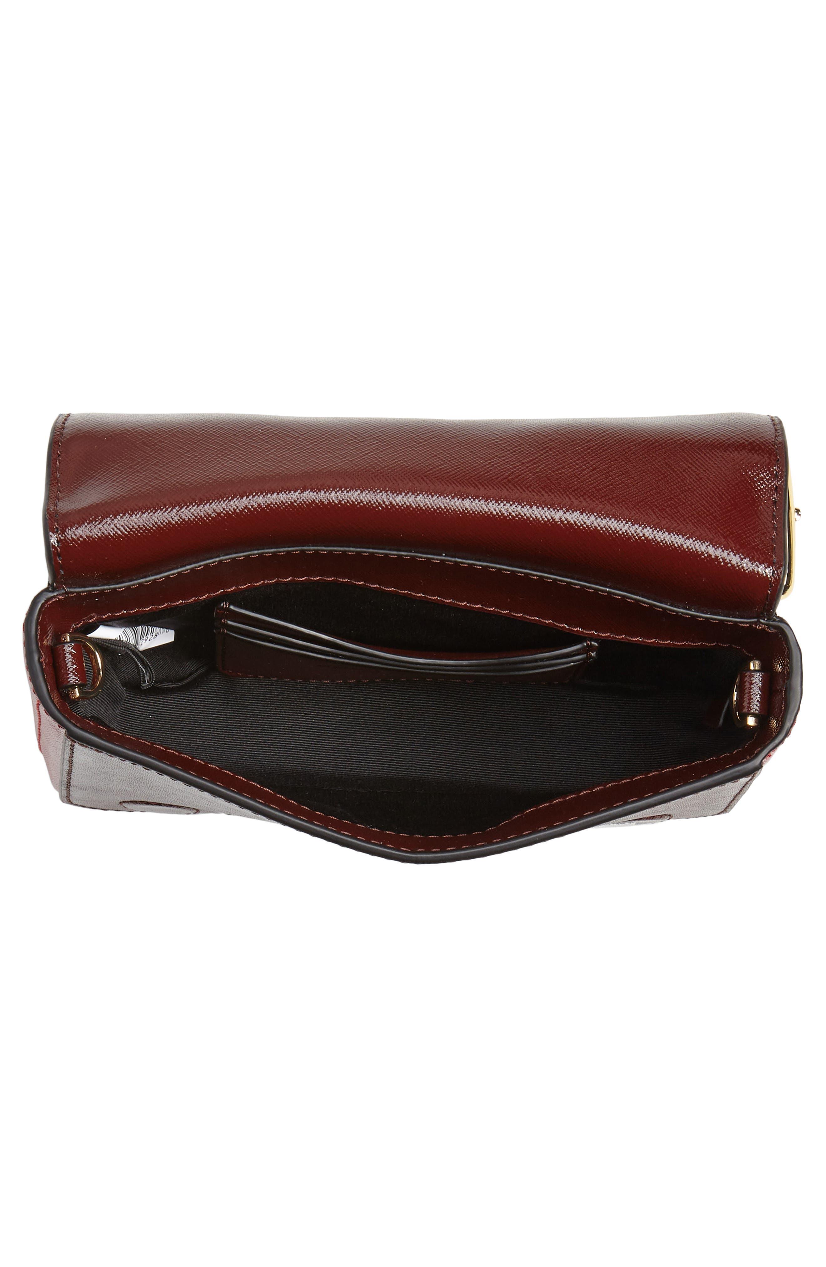 ,                             Hip Shot Convertible Crossbody Bag,                             Alternate thumbnail 4, color,                             BLACK/ RED