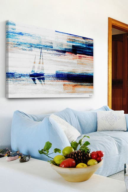 "Image of Marmont Hill Inc. Aegean Sea Painting Print on Wrapped Canvas - 30"" x 20"""