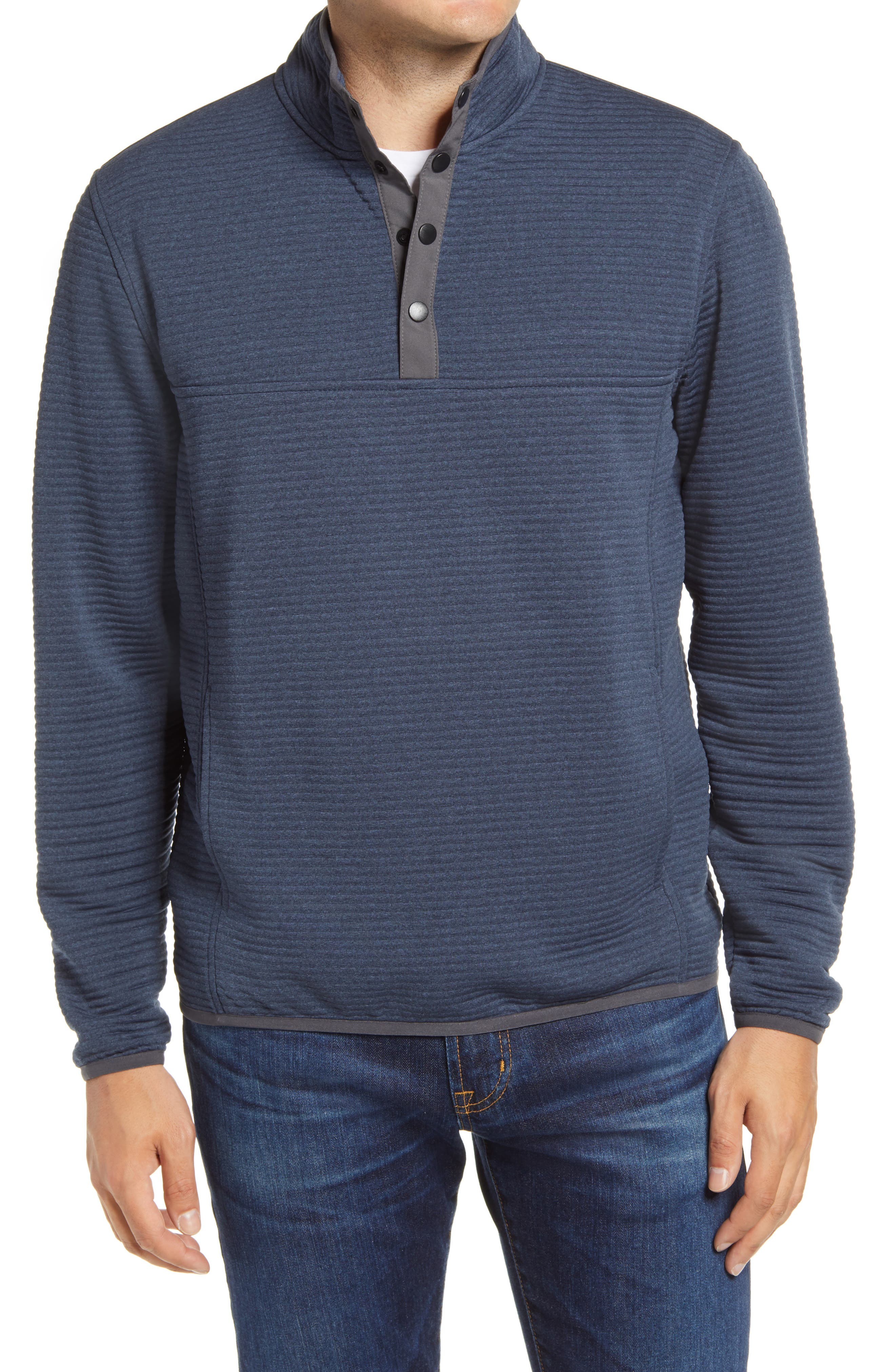 Halpert Ribbed Henley Pullover
