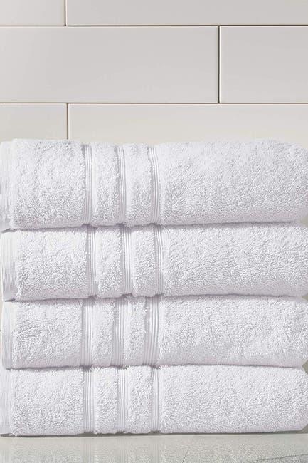 Image of Modern Threads Manor Ridge Turkish Cotton 700 GSM Bath Towel - Set of 4 - White