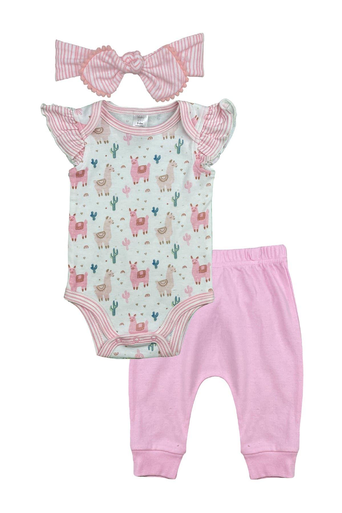 Image of Modern Baby Bodysuit, Pants & Headband