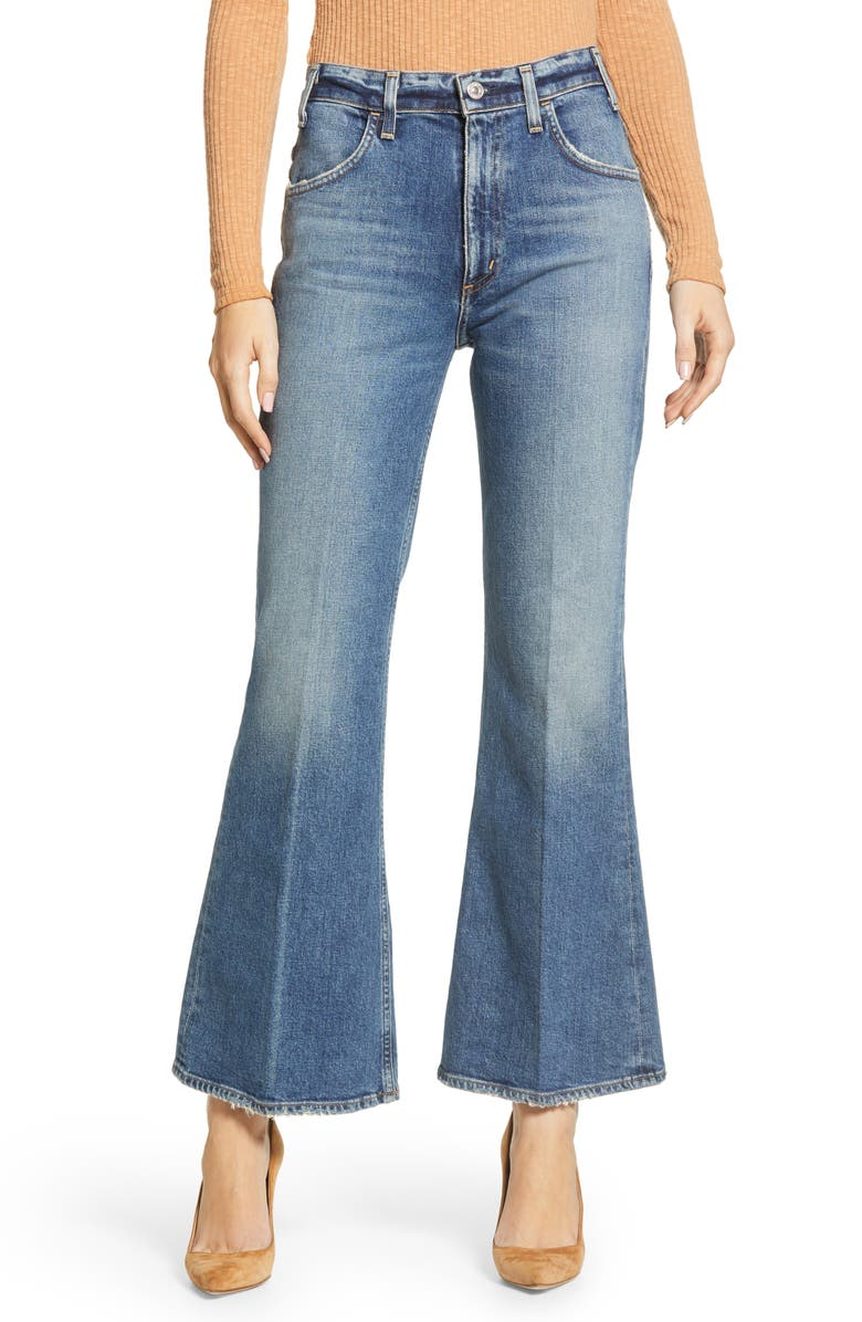 CITIZENS OF HUMANITY Amelia Vintage High Waist Flare Leg Jeans, Main, color, LONG GONE