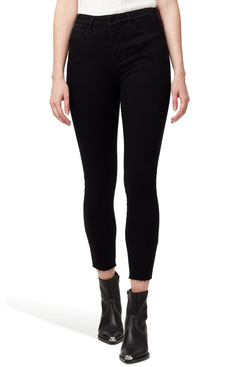 SANCTUARY Social Standard High Waist Ankle Skinny Jeans, Main, color, JET