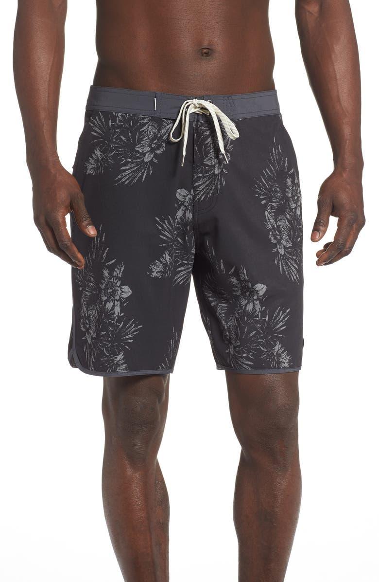 VUORI Cruise Hybrid Board Shorts, Main, color, BLACK VINTAGE FLORAL