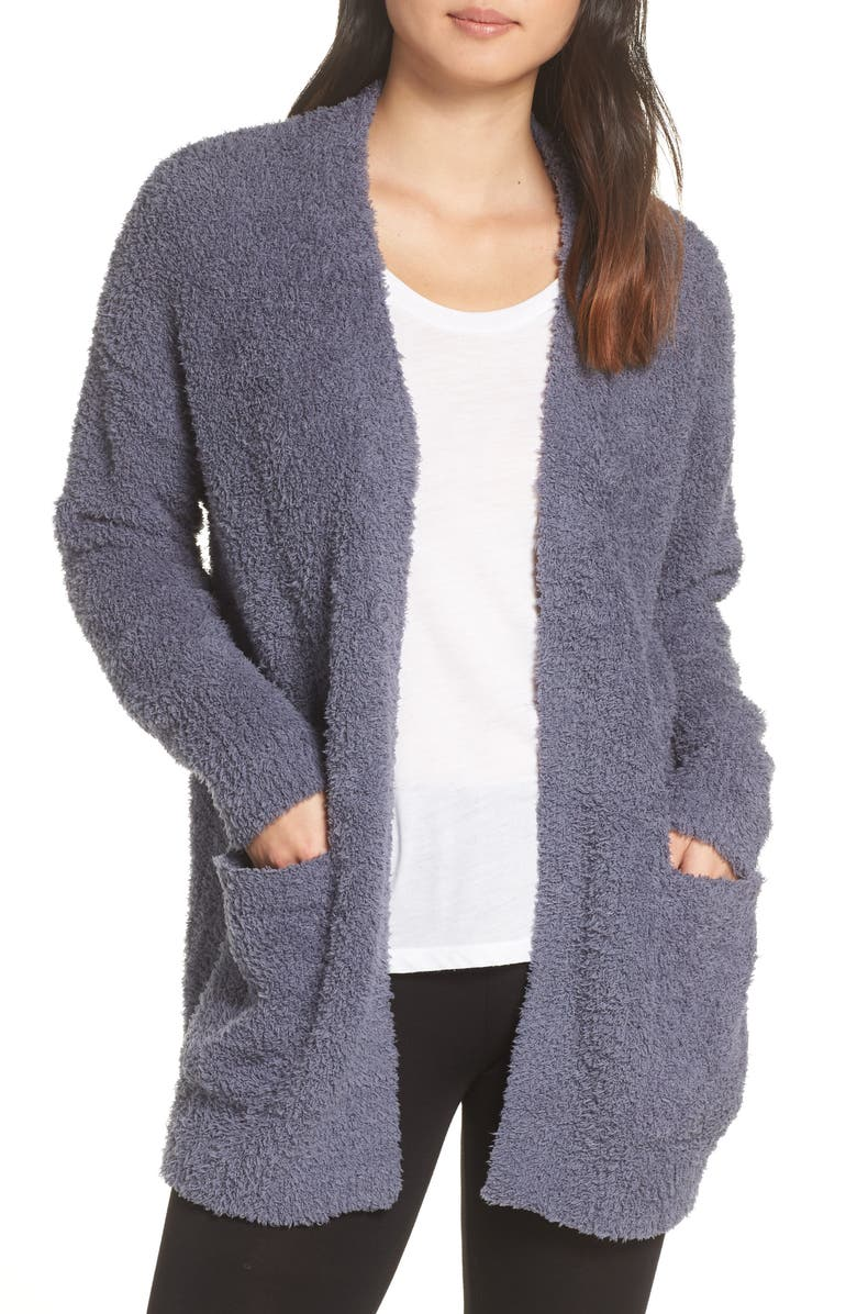 BAREFOOT DREAMS<SUP>®</SUP> CozyChic<sup>™</sup> Cardigan, Main, color, DEEP SEA BLUE