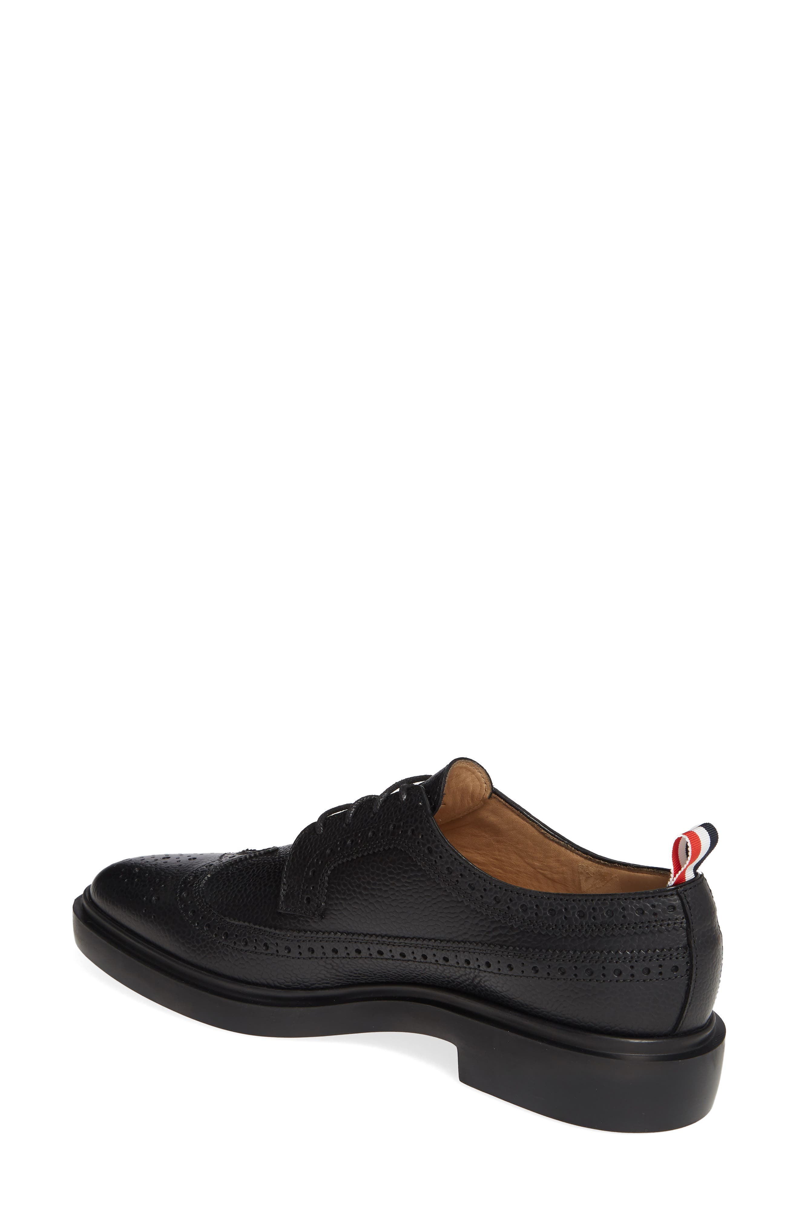 ,                             Brogue Textured Loafer,                             Alternate thumbnail 2, color,                             BLACK
