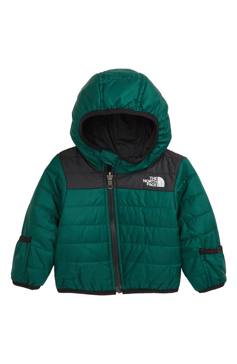 THE NORTH FACE Perrito Reversible Water Repellent Hooded Jacket, Main, color, NIGHT GREEN