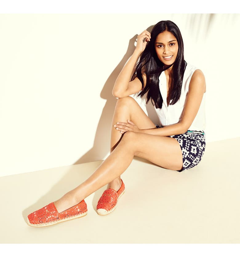 HALOGEN<SUP>®</SUP> 'Serene' Crochet Lace Espadrille Slip-On, Main, color, 400