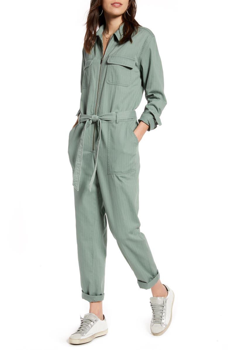 TREASURE & BOND Zip Front Jumpsuit, Main, color, 301