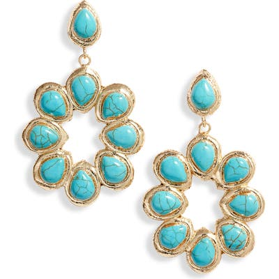 Bracha Oceana Hoop Drop Earrings