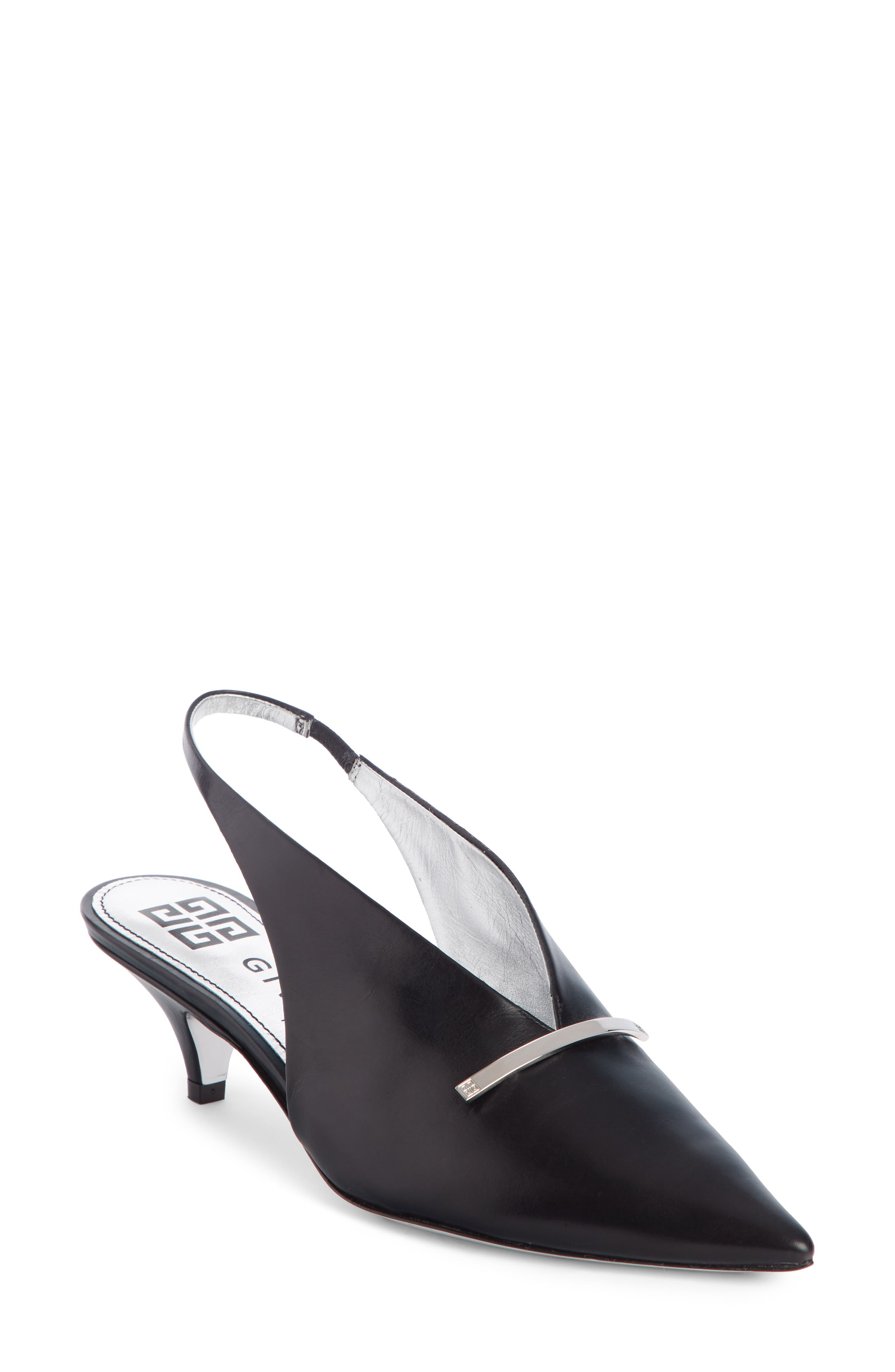 Givenchy Logo Bar Slingback Pump - Black