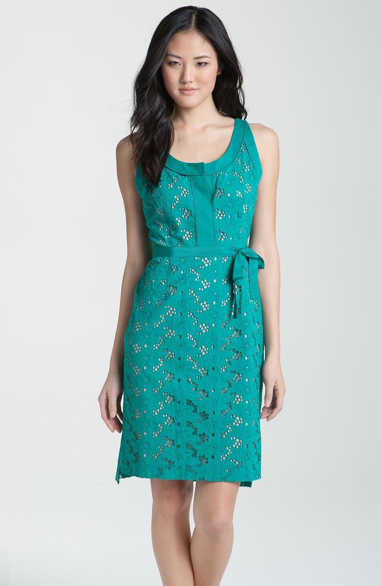 T TAHARI 'Jessie' Sleeveless Dress, Main, color, 440