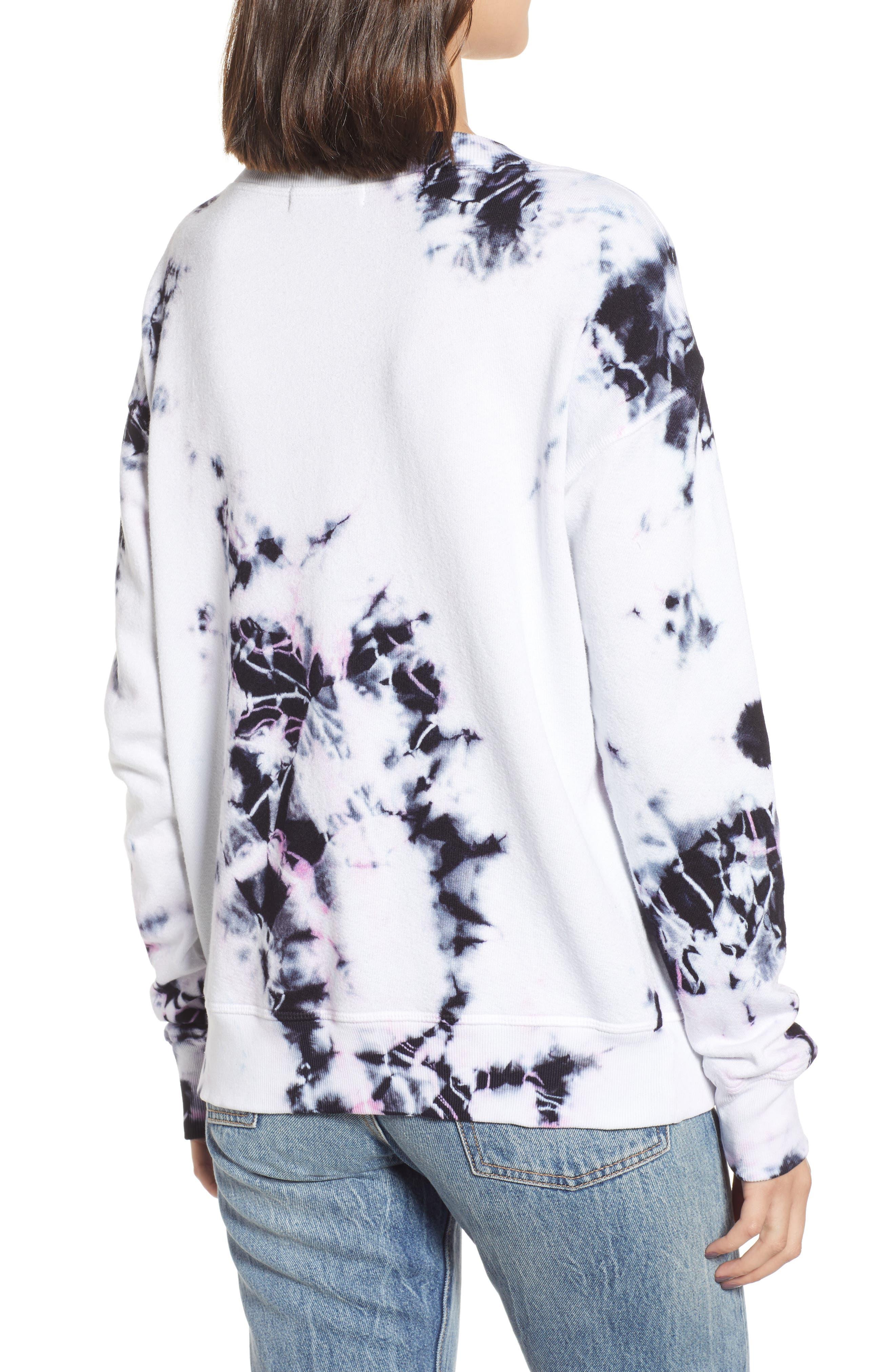 ,                             Sterling Tie Dye V-Neck Sweatshirt,                             Alternate thumbnail 2, color,                             MOONLIGHT MULTI