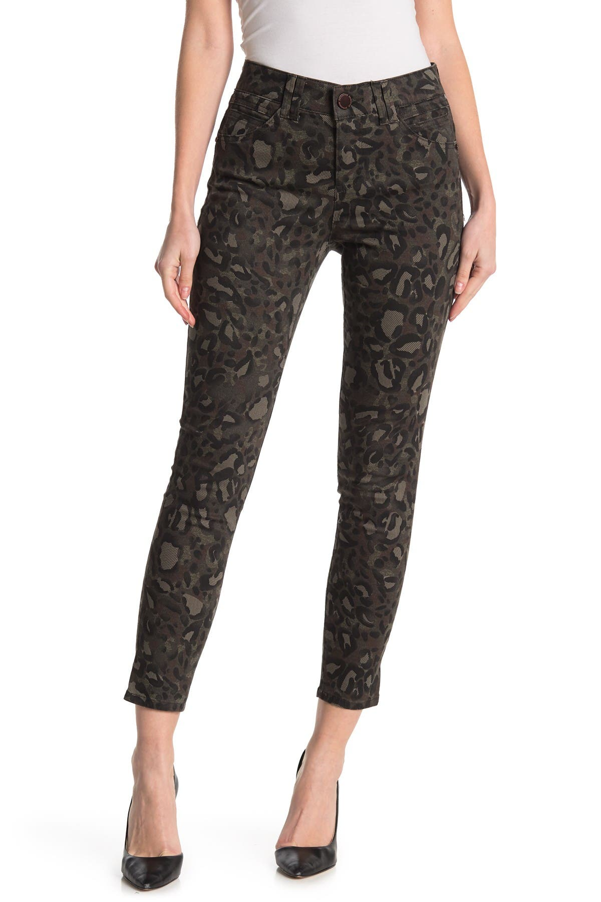 Image of Democracy Leopard Print Ab Technology Jeggings