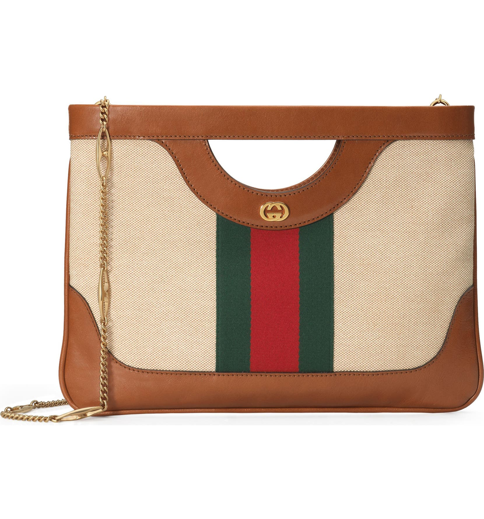 7517c9518d91 Gucci GG Vintage Canvas & Leather Shoulder Bag | Nordstrom