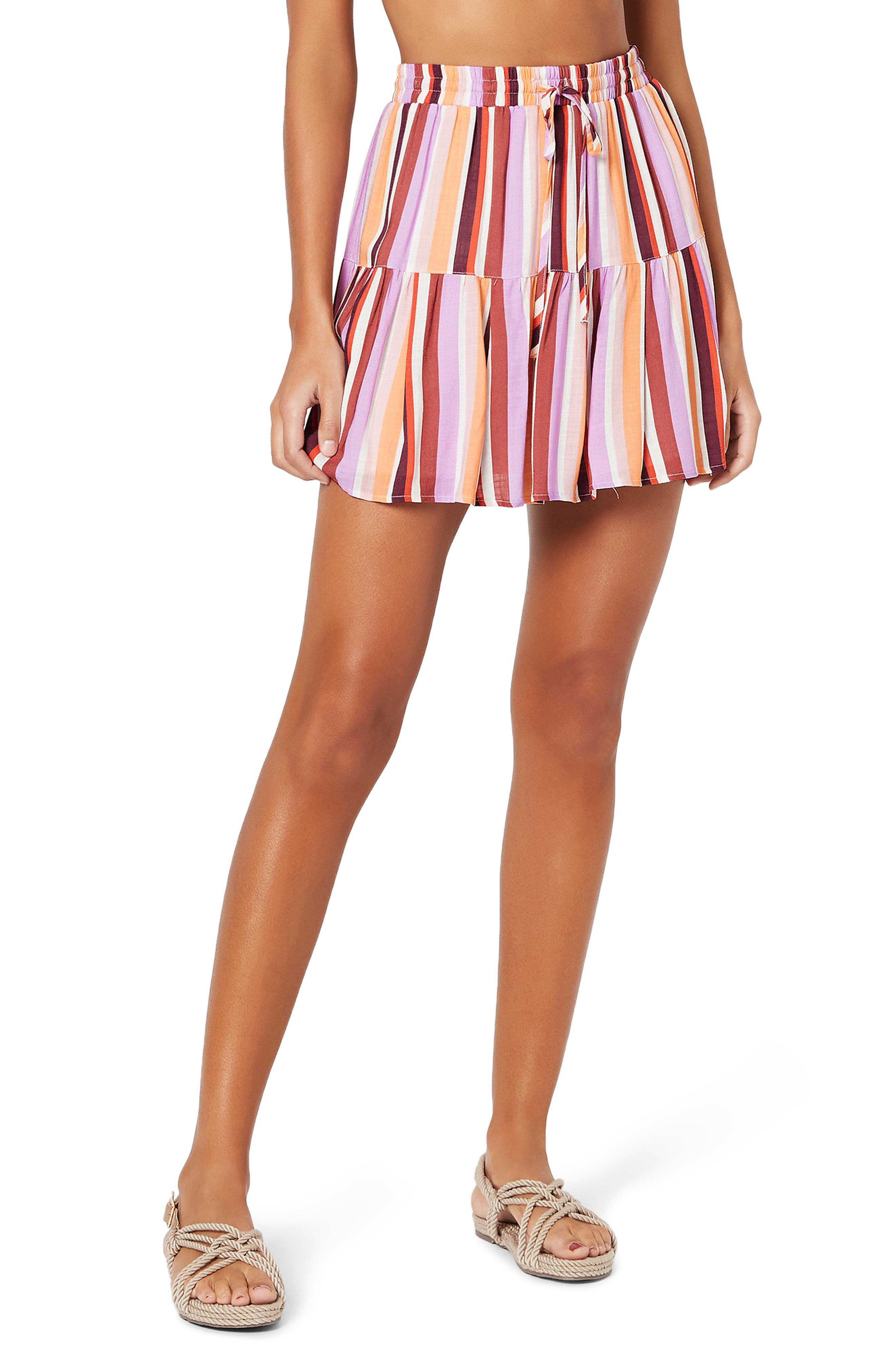 MINKPINK Ilios Tiered Cover-Up Miniskirt | Nordstrom